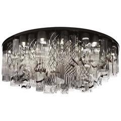 Italian Modern Murano Glass Chandelier or Flush Mount