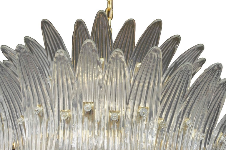 Gold Plate Tropicale Palmette Chandelier by Fabio Ltd For Sale