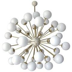 Nova White Murano Globes Sputnik