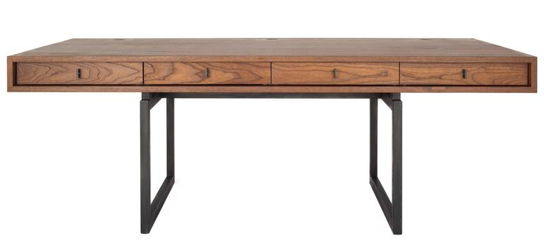 berkeley desk in customizable wood metal and size for sale at 1stdibs rh 1stdibs com metal and wood desk with hutch metal and wood desk lamp