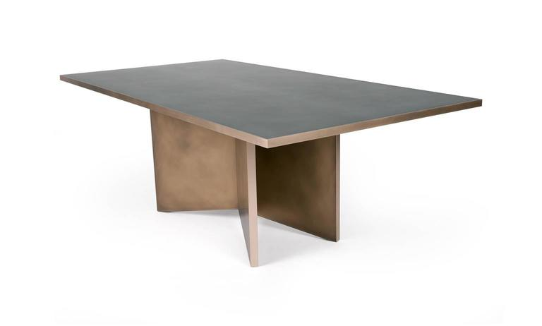 Modern Vega Dining Table, Customizable Metal and Dimensions For Sale