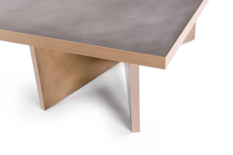 American Vega Dining Table, Customizable Metal and Dimensions For Sale