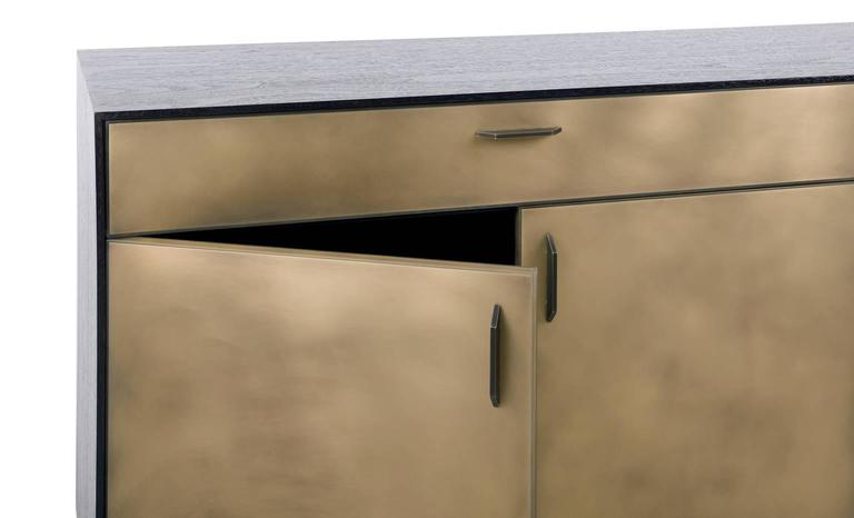 Gotham Credenza, Customizable Wood, Metal and Resin In New Condition For Sale In Brooklyn, NY