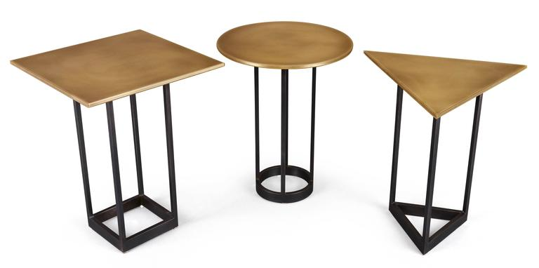 Gotham end tables customizable metal and resin for sale for Coffee tables you can sit on