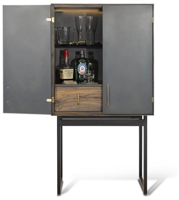 Gotham Bar Customizable Wood Metal and Resin For Sale