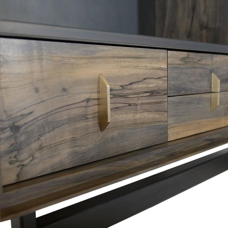 Gotham-Barschrank aus Holz, Metall und Kunststoff  4
