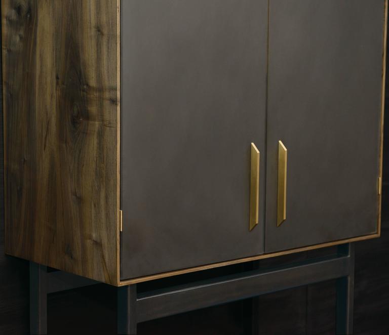 Gotham-Barschrank aus Holz, Metall und Kunststoff  6