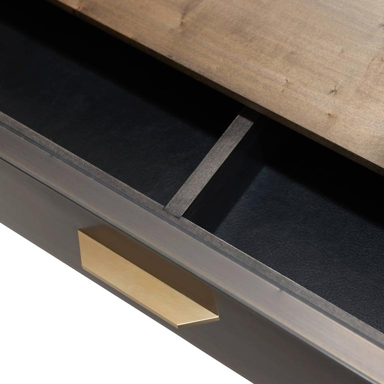 American Gotham Credenza - Customizable Wood, Metal and Resin For Sale