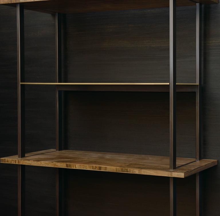 Gotham Bookcase - Customizable Wood and Metal In New Condition For Sale In Brooklyn, NY
