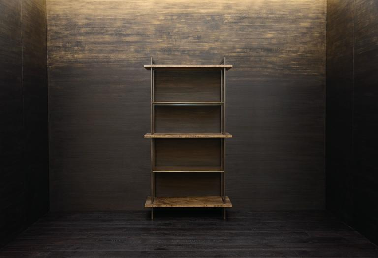 American Gotham Bookcase - Customizable Wood and Metal For Sale