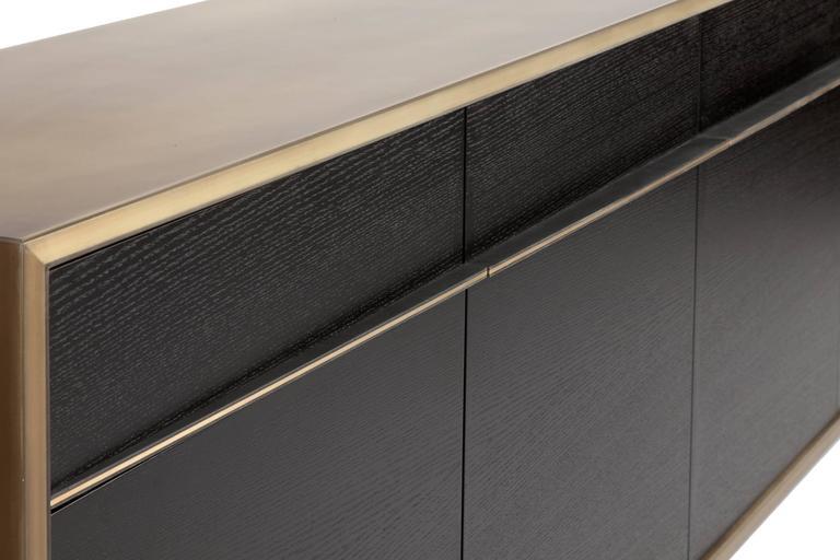 American Tompkins Five-Door Sideboard in Customizable Metal, Resin and Wood For Sale