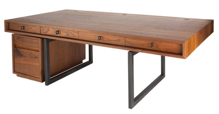 berkeley desk in customizable wood metal and size for sale at 1stdibs rh 1stdibs com metal and wood desk design metal and wood desk design