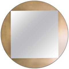"Gotham Round Mirror 42"" - Customizable"