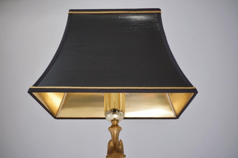 Maison Charles Horse Lamps Pair of Brass and Wood, circa 1970s, French For Sale 2