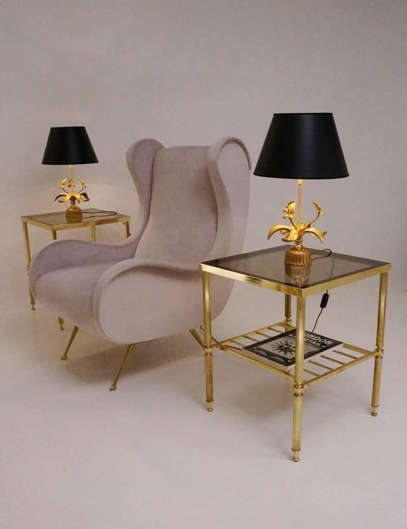 maison bagu u00e8s set of four neoclassical brass side tables