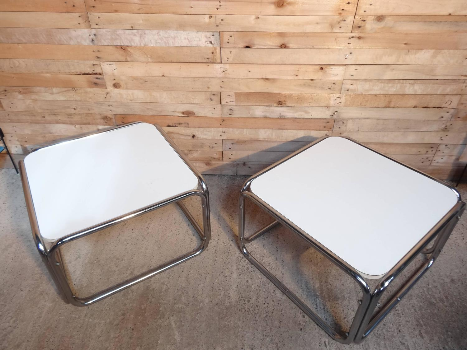 1960s Chrome White Cube Coffee Tables Only 1 Available For Sale At 1stdibs
