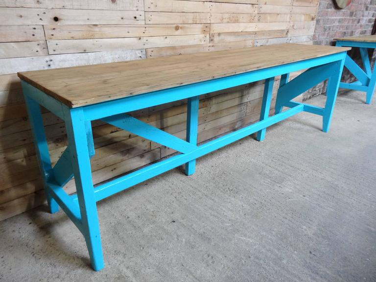 1910s Extra Large Kitchen Table Or Shop Display For Sale