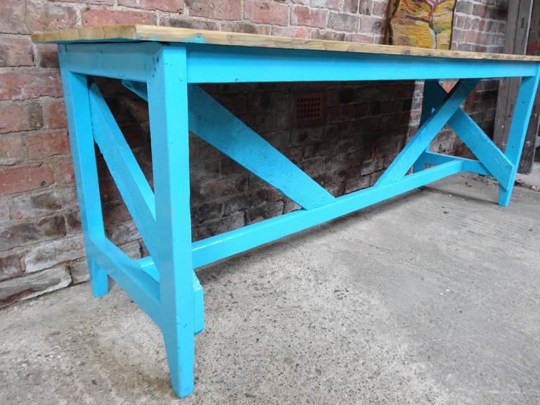 Arts and Crafts 1910s Large Kitchen Table or Shop Display For Sale