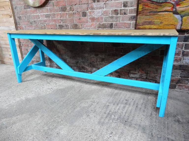 1910s Large Kitchen Table or Shop Display In Good Condition For Sale In Cowthorpe, North Yorkshire