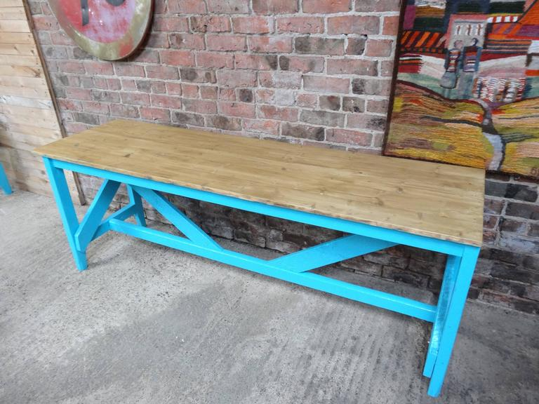 English 1910s Large Kitchen Table or Shop Display For Sale