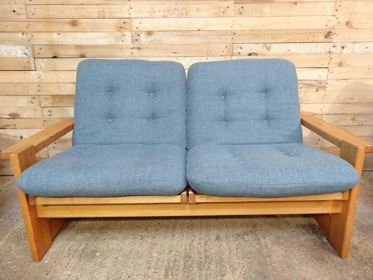 Rare Vintage Dutch Pastoe Two-Seat Sofa or Loveseat For Sale 4