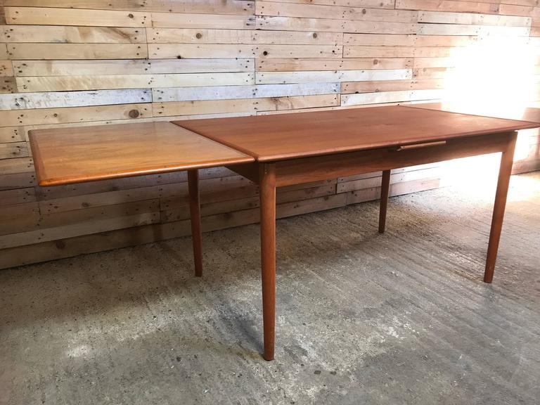 Danish Jun Omann for Møbelfabrik A/S Teak 1960s Retro Rect Extendable Dining Table For Sale