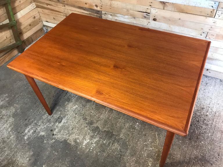 Jun Omann for Møbelfabrik A/S Teak 1960s Retro Rect Extendable Dining Table For Sale 1