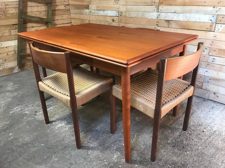Jun Omann for Møbelfabrik A/S Teak 1960s Retro Rect Extendable Dining Table For Sale 4