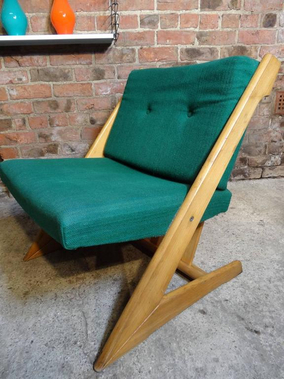 20th Century Mid Century Modern 1960 Stunning Danish Z Design Lounge Chair  For Sale