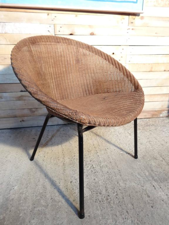 20th Century 1960s Extremely Sought After Lloyds Loom Rotan Set of Chairs For Sale