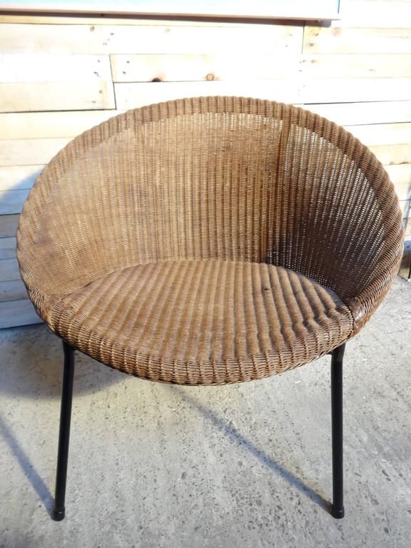 English 1960s Extremely Sought After Lloyds Loom Rotan Set of Chairs For Sale
