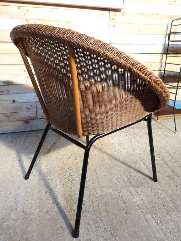 1960s Extremely Sought After Lloyds Loom Rotan Set of Chairs For Sale 1