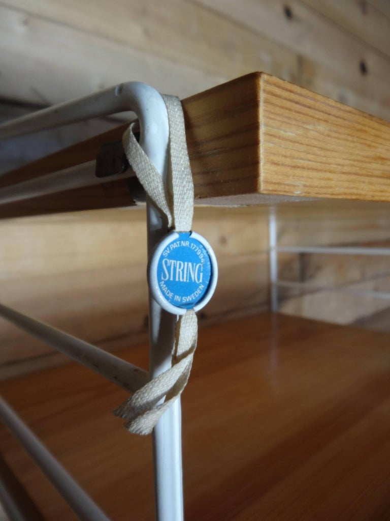 Metal Large Wall Shelving Unit by Nisse Strinning for String, 1960s For Sale