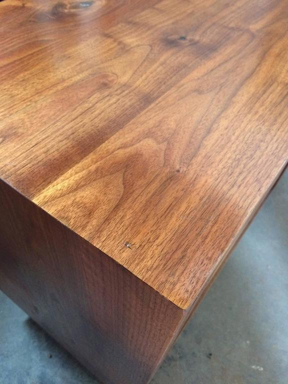 Sweep Cabinet in Black Walnut and Live Edged Butternut with Hand-Turned Legs For Sale 2