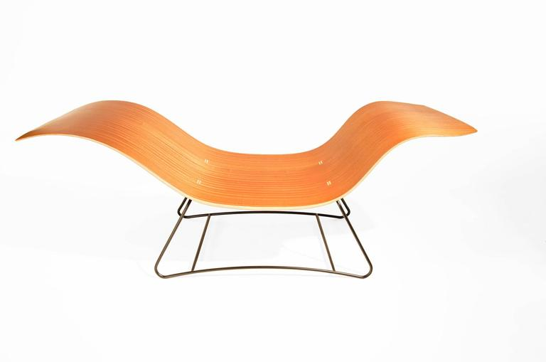 This lounge chair is constructed of a complex wood and composite bent lamination process. It's asymmetrical design is perfect for finding just the right place for you to sit or lounge. This lounge is inspired by the feeling of being in the landscape