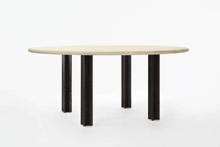 The Egsu Dining Table was designed by Jean & Oliver Pelle with their own family members in mind. The result was a durable yet elegant dining table for everyday use as well as for formal occasions. Children are encouraged to interact with the table –