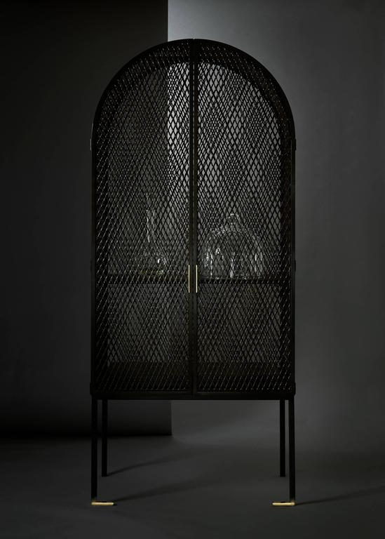 Blackened Louise Cabinet by Pelle For Sale