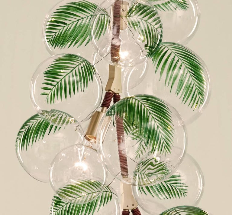 Contemporary Palm Bubble Chandelier by Pelle For Sale