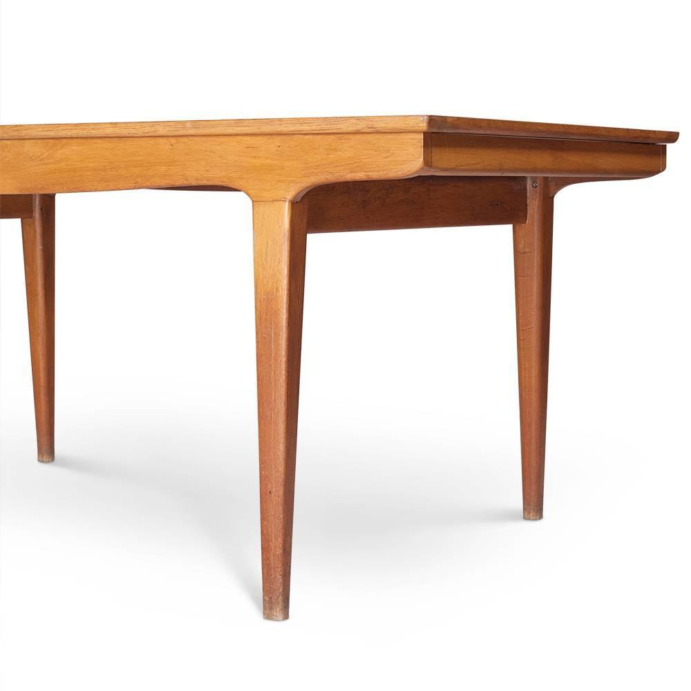 Vintage danish oak scandinavian dining table 1960s for for Most beautiful dining room tables