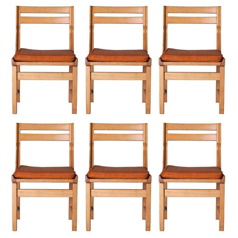 Guillerme Et Chambron Set of Six Dining Room Chairs