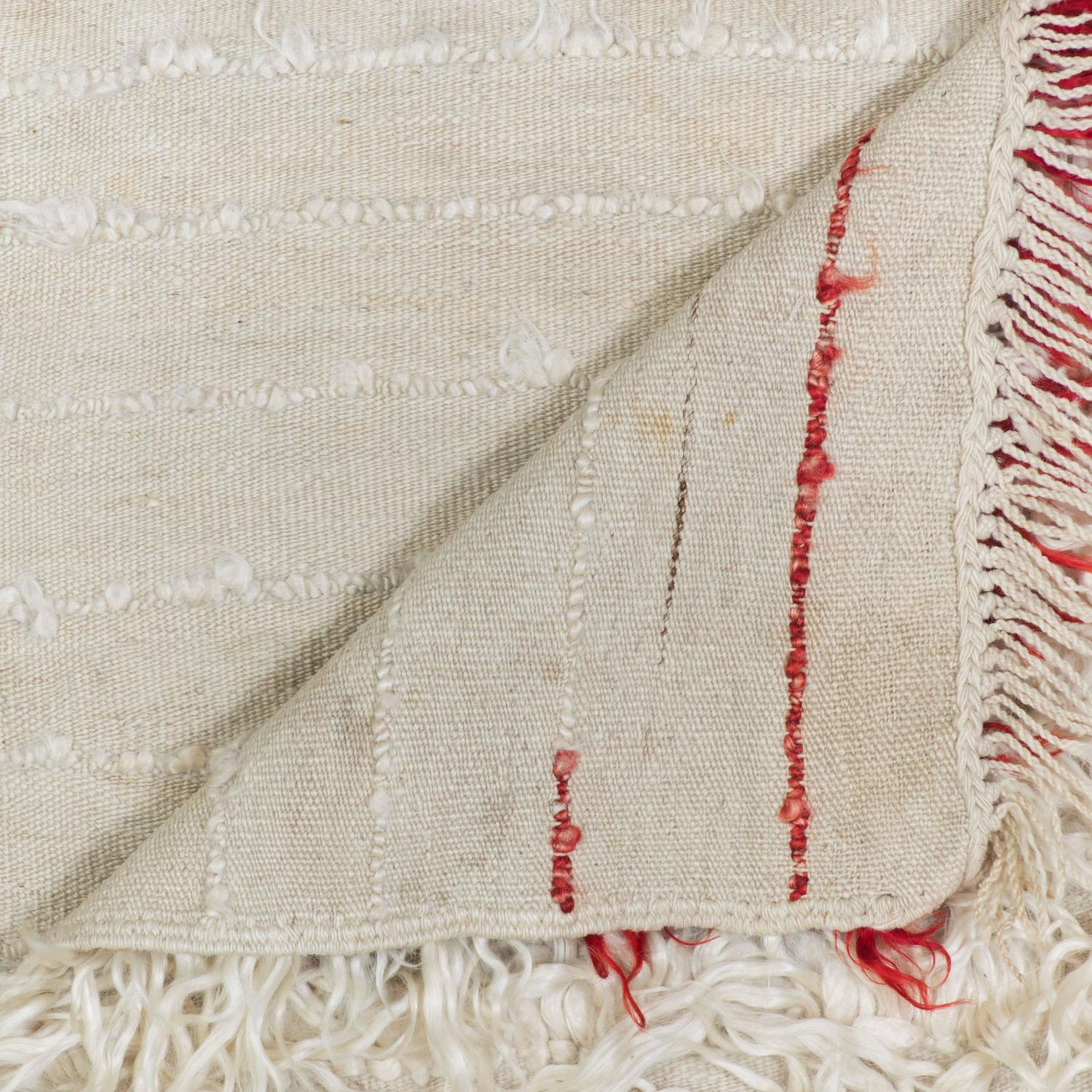 Cream and red vintage filikli rug for sale at 1stdibs for Cream and red rugs