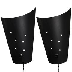Pair of 1980s Metal Sconces from French Cinema