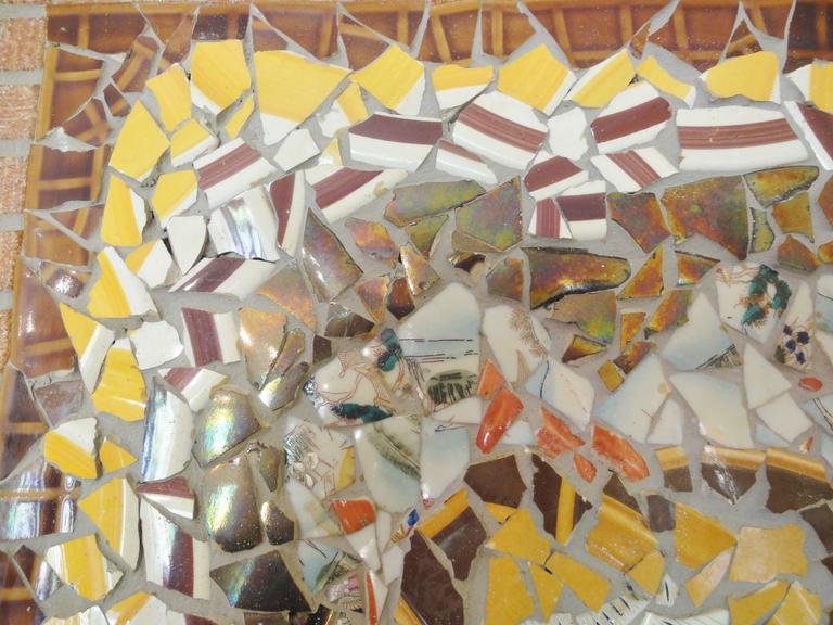 Mid Century Retro Danish Copenhagen Porcelain Mosaic Wall