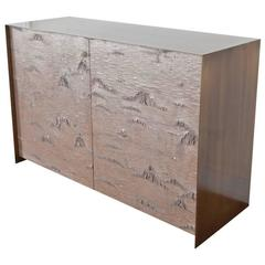 Winabojo Bronze Birch Bark Credenza I by Ether Atelier, Customizable