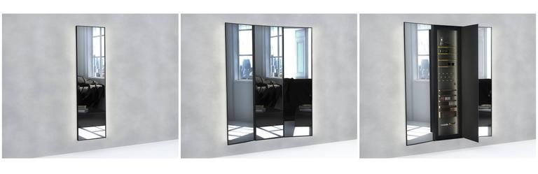 Salvador, A Large Tri-Fold Mirror with Locked Secret Compartment For ...