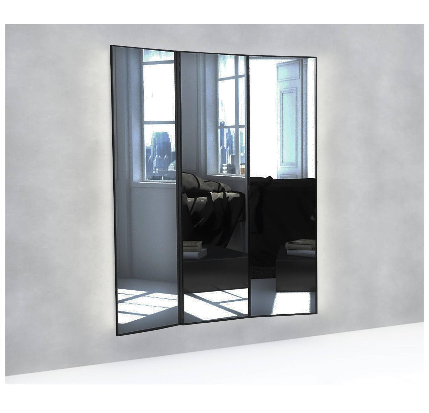 the mirror of narcissus large tri fold mirror with locked secret compartment for sale at 1stdibs. Black Bedroom Furniture Sets. Home Design Ideas