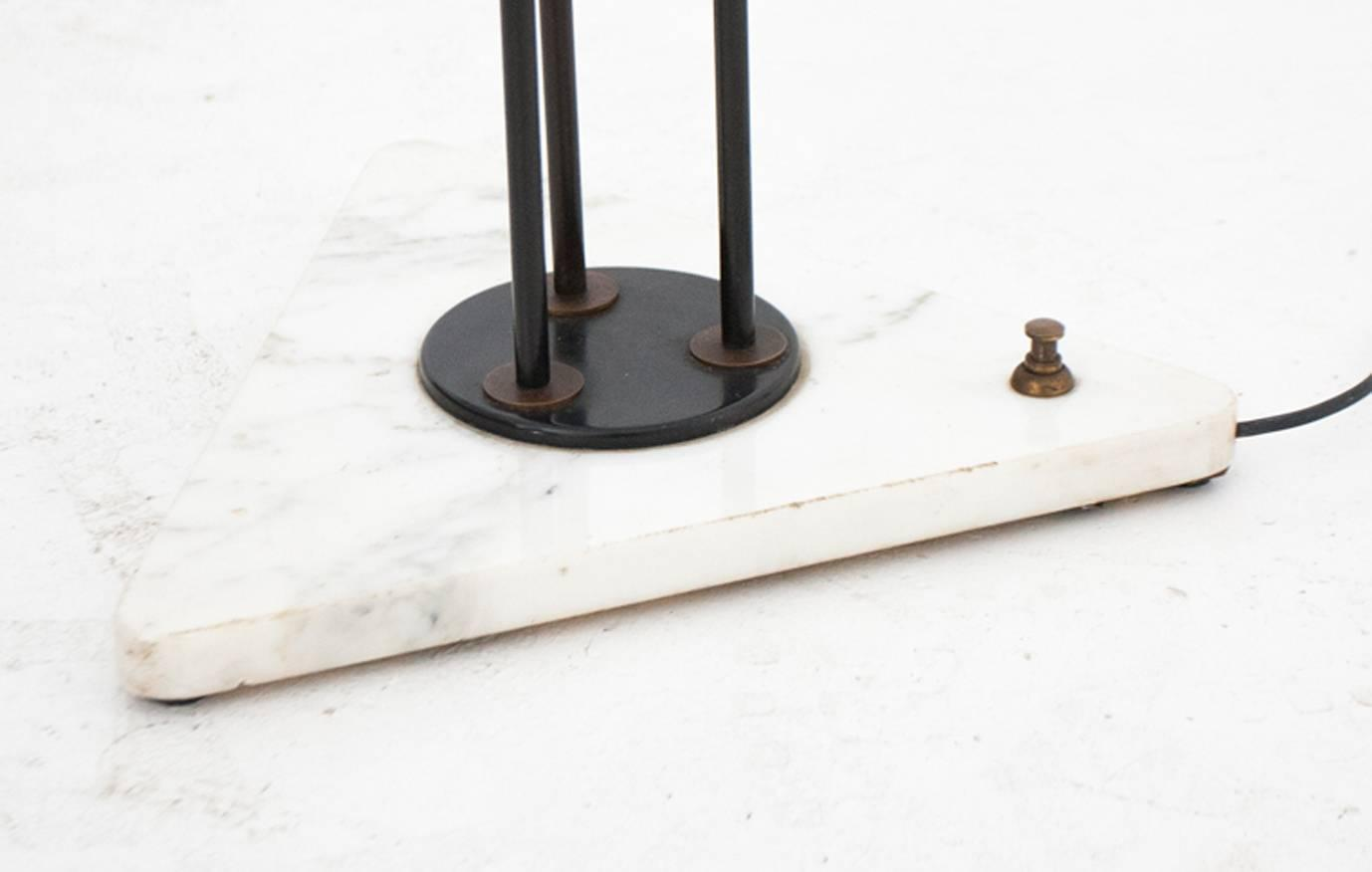 italian opaline floor lamp with marble base 1950s at 1stdibs. Black Bedroom Furniture Sets. Home Design Ideas