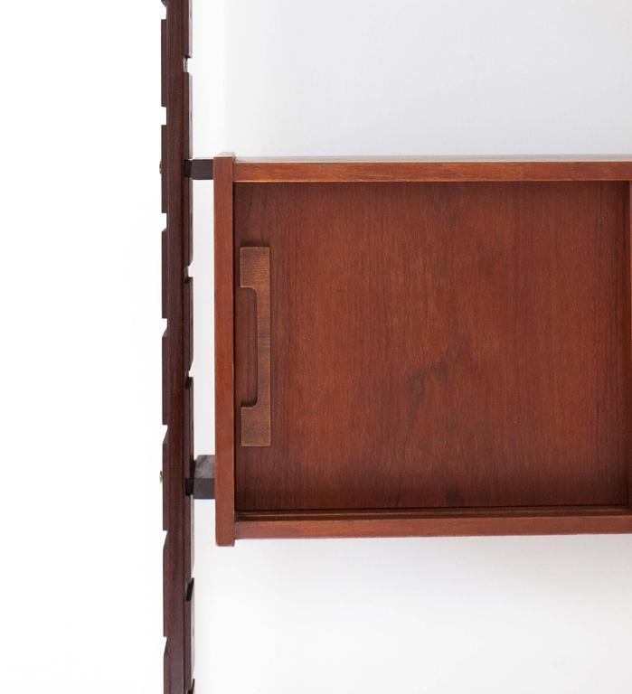 Italian Mid-Century Mahogany Wall Unit Bookshelf Attrib. to Ico Parisi 1950s For Sale 2