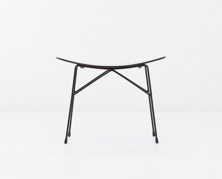 Swedish Iron And Rosewood Bench By Uiferts Tibro 1950s
