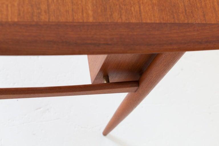 Fully Restored Danish Mid-Century Modern Teak Day Desk, 1950s For Sale 1